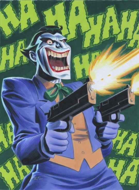 The Joker by Bruce Timm * - Art Vault                                                                                                                                                      More