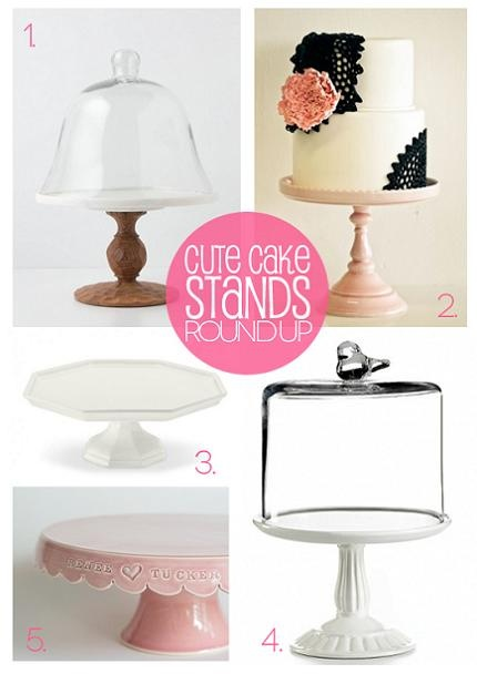Best Friends For Frosting shares some of their cutest cake stand picks:  Anthropologie, Sweet and Saucy Supply, Williams Sonoma, Vessels and Wares, Macy's