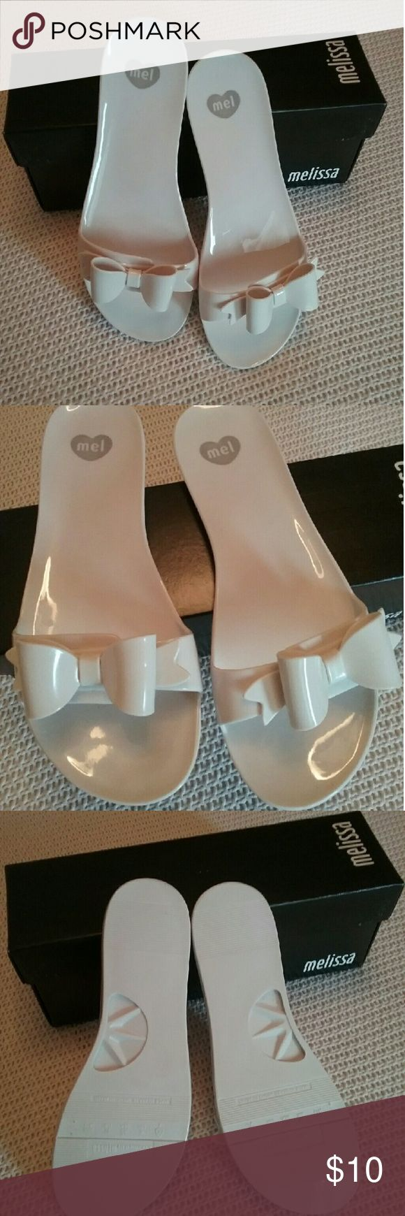 Melissa Flats MELISSA FLATS in off white   Lightly worn thought out..no major marking  Box in included Melissa Shoes Flats & Loafers