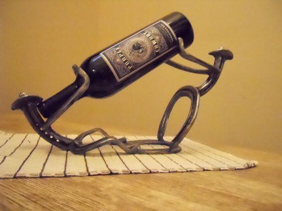 Thirsty Cowboys Wine Rack A Wonderful By Kokeshorseshoedesign 45 00 Horseshoeshorseshoe