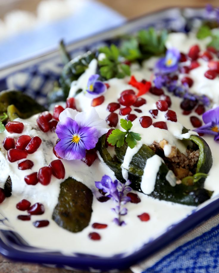 Chiles en Nogada: Google it. The story is long and beautiful, and there's so much info on this dish, one of the most emblematic of Mexico. Bringing together th