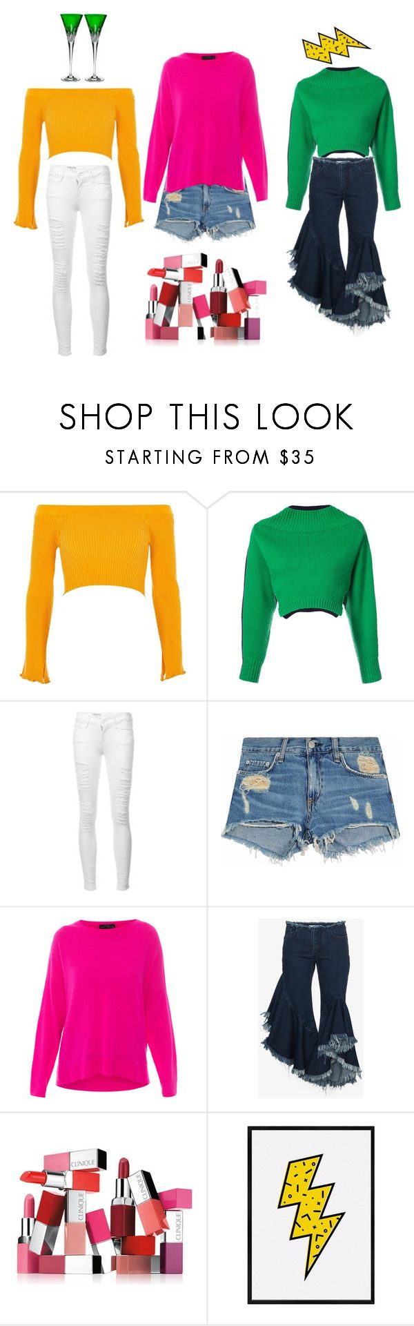 """""""Sweater looks"""" by miloni-jhaveri ❤ liked on Polyvore featuring River Island, Monse, Frame, rag & bone/JEAN, MARC CAIN, Marques'Almeida, Clinique and Waterford"""