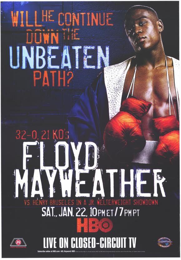 Floyd Mayweather vs Henry Bruseles 11x17 Boxing Promo Poster (2005)