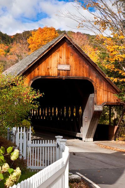 Covered Middle Bridge in Woodstock, Vermont