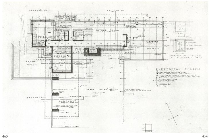 56 best frank lloyd wright images on pinterest frank for Usonian house plans for sale