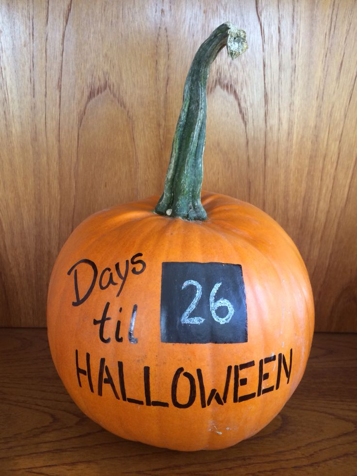 October 5, 2014 - days til Halloween countdown pumpkin (chalkboard ...