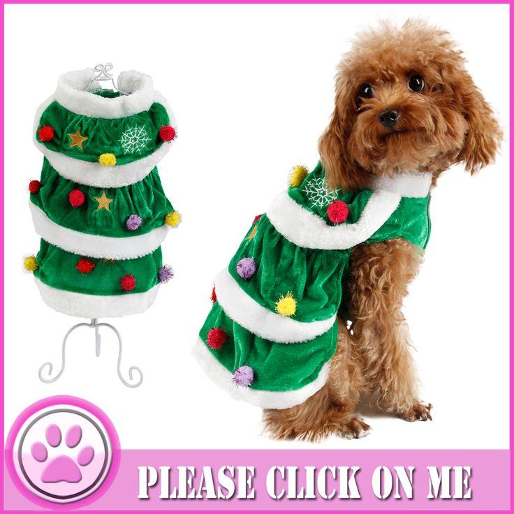 Одежда Для животных Зимой Собака Рождество Одежда Пальто Зимняя Одежда Щенок Кошка Одежда Рождественская елка Зеленый Рис Теплый Толстый XS-XXXL