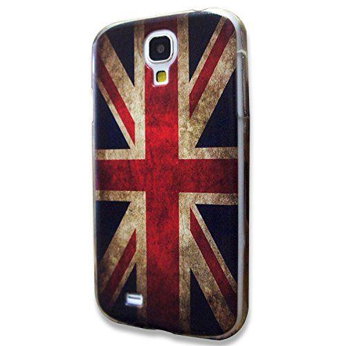 IDACA die Flagge von England Hartes Plastik Schale Schutzhülle für Samsung Galaxy S4 i9500 Case Hülle