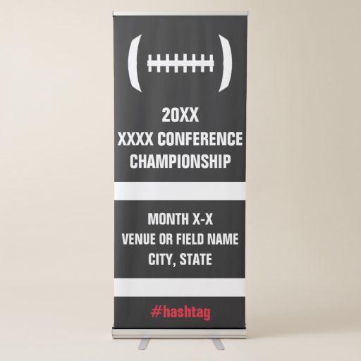 High School Football Playoffs Championship Game Retractable Banner #football #playoffs #highschoolfootball #championship #sports #banner #signage #custom
