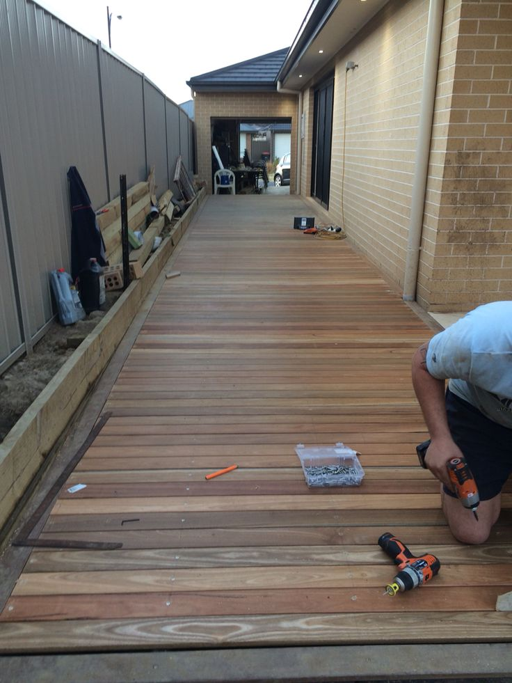 Australian spotted gum timbre decking.. Work in progress