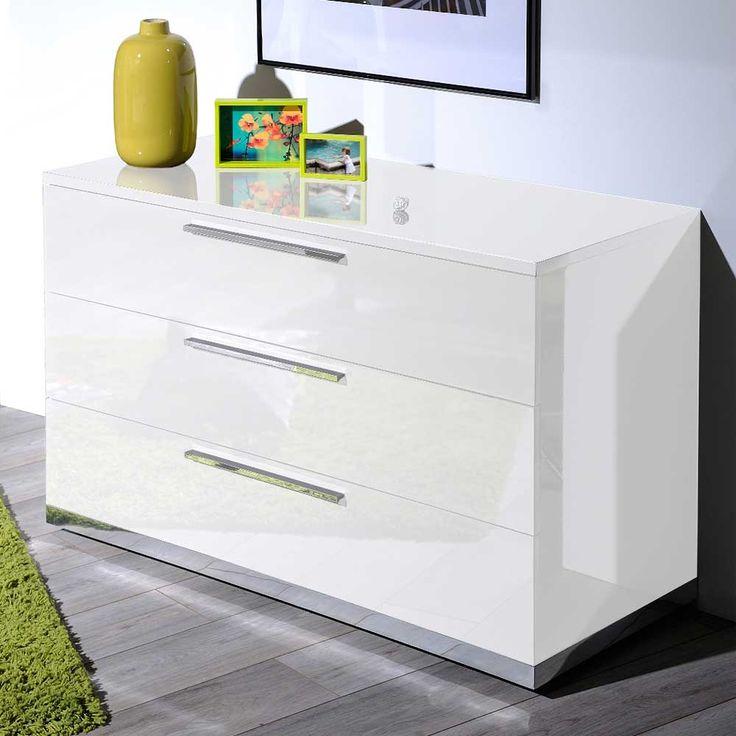 Good Schubladen Sideboard in Wei Hochglanz cm breit sideboard wohnzimmerschrank kommode sidebord k chenkommode