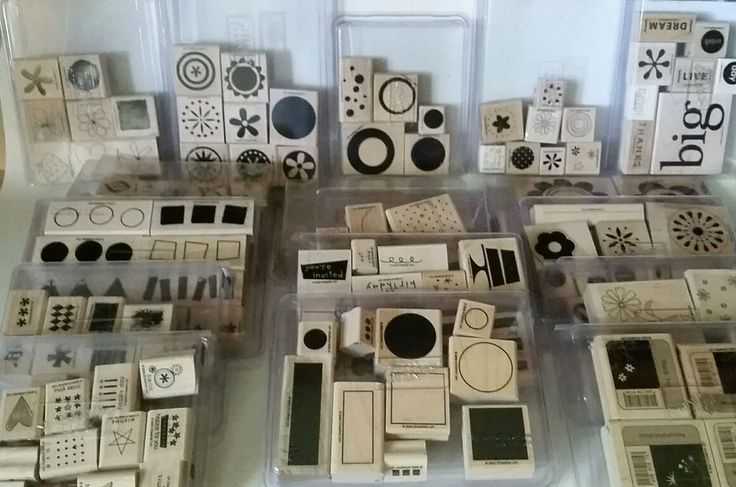 STAMPIN UP Wood Block Rubber Stamp Collection LOT of 17 SETS & 137 Stamps EUC #StampinUp