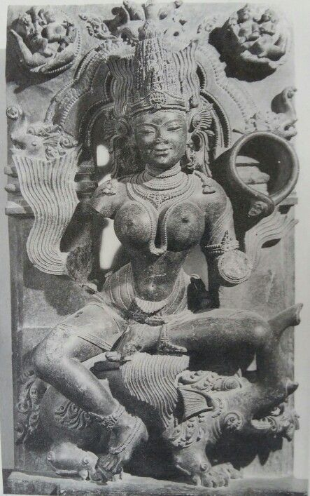 """Varunani "" ( Goddess of Ocean ). Eastern Ganga Dynasty. 13th Century AD. Konark, Odisha. India."