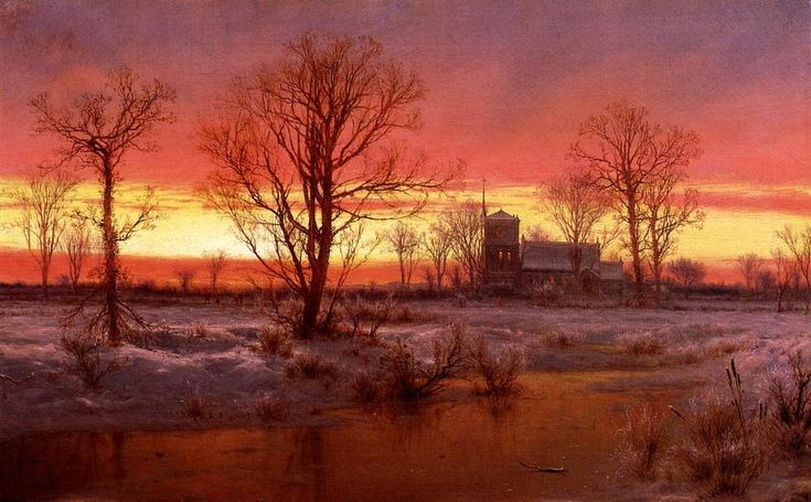 louis remy mignot | ... Dusk), Oil On Canvas by Louis Remy Mignot (1831-1970, United States