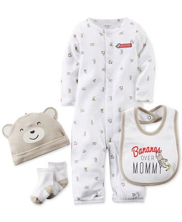 Carter's Baby Boys' 4-Piece Monkey Layette Set   macys.com