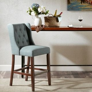 Madison Park Aida Blue 30-inch Bar Stool - 20484633 - Overstock - Great Deals on Madison Park Bar Stools - Mobile