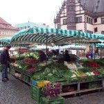 The market place in my hometown, Schweinfurt, Germany. Oh, how I miss it!