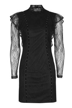 Gothic Ruffle Stud Dress