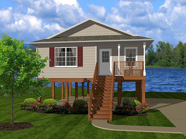 Waterfront home plan 004h 0100 tiny houses pinterest for Waterfront cottage plans