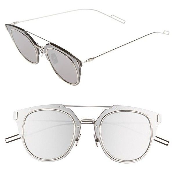 Men's Dior Homme 'Composit 1.0S' 62Mm Metal Shield Sunglasses ($590) ❤ liked on Polyvore featuring men's fashion, men's accessories, men's eyewear, men's sunglasses, mens sunglasses, men's shield sunglasses, mens aviators, mens eyewear and mens aviator sunglass