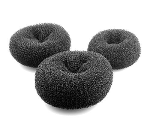 AJOY Hair Bun Maker Women Rings Donut Buns Doughnut Shaper Chignon Former, 3 Pieces Black 2-4inch, Large Medium and Small Size  //Price: $ & FREE Shipping //     #hair #curles #style #haircare #shampoo #makeup #elixir