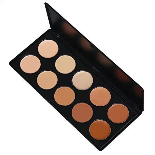 Amazing2015 Pro Mixed 10 Color Cream Concealer Palette Foundation Makeup Set Cover Speckled Freckle Face Contouring Kit by Amazing2015