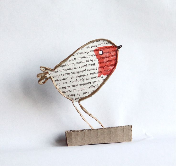 Epistyle : rouge-gorge / robin, wire and paper craft. Advent week 3- week of the animals