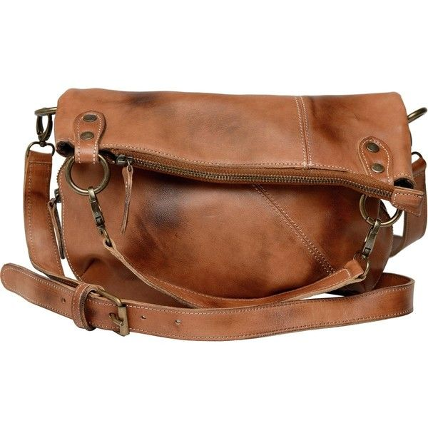Bed Stu Tahiti Foldover Crossbody Bag ($195) ❤ liked on Polyvore featuring bags, handbags, shoulder bags, purse shoulder bag, crossbody purse, fold over crossbody purse, brown crossbody purse and handbags crossbody