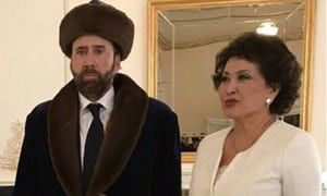 Face/Off? Nic Cage seems more Moonstruck at Kazakh film festival   World news   The Guardian