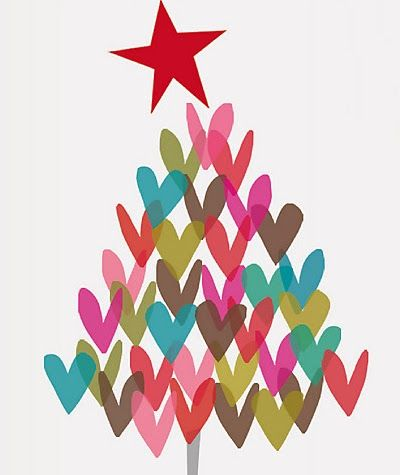 print & pattern Christmas tree from basic shapes