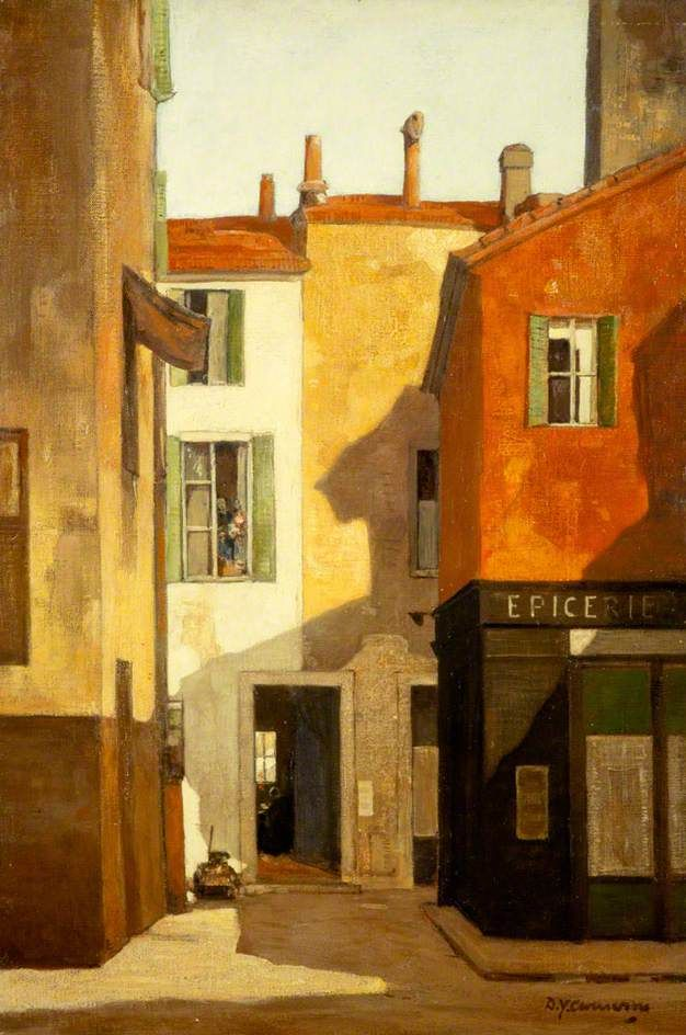 ۩۩ Painting the Town ۩۩ city, town, village house art - La Rue Annette c.1922 by Sir D.Y.Cameron