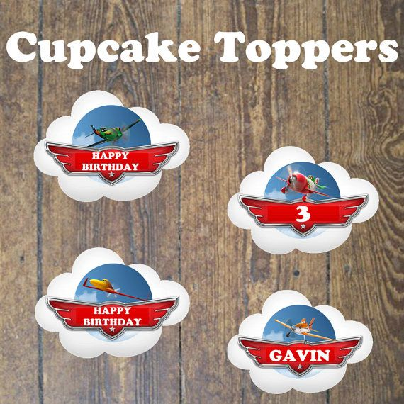 Disneys Planes Cupcake Cake Topper Party by DesignsbyCarrieLee, $5.00