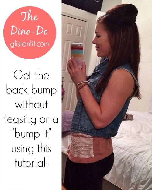 "Get the back bump without teasing or using a ""Bump-It"" using this tutorial. Super easy and takes less than 5 minutes."