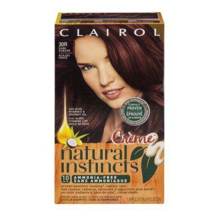 Clairol Natural Instincts Creme Ammonia-Free 30R Dark Auburn, 1.0 CT, Beige
