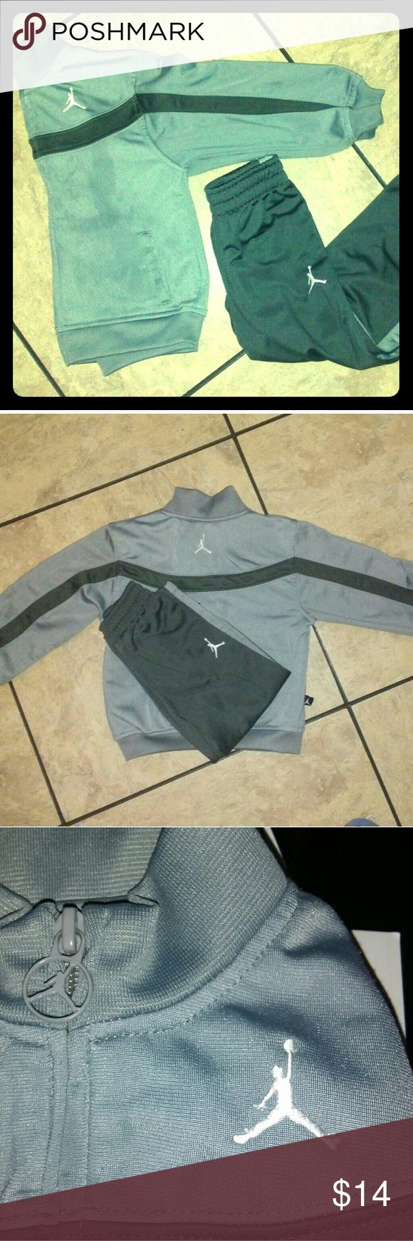 Kids' Jordan Sweat suit, 24 months Great used condition. Some light pilling on the jacket as my son is short and wore the jacket more than the pants. Runs slightly larger, imo, closer to a 2T. Jordan Matching Sets
