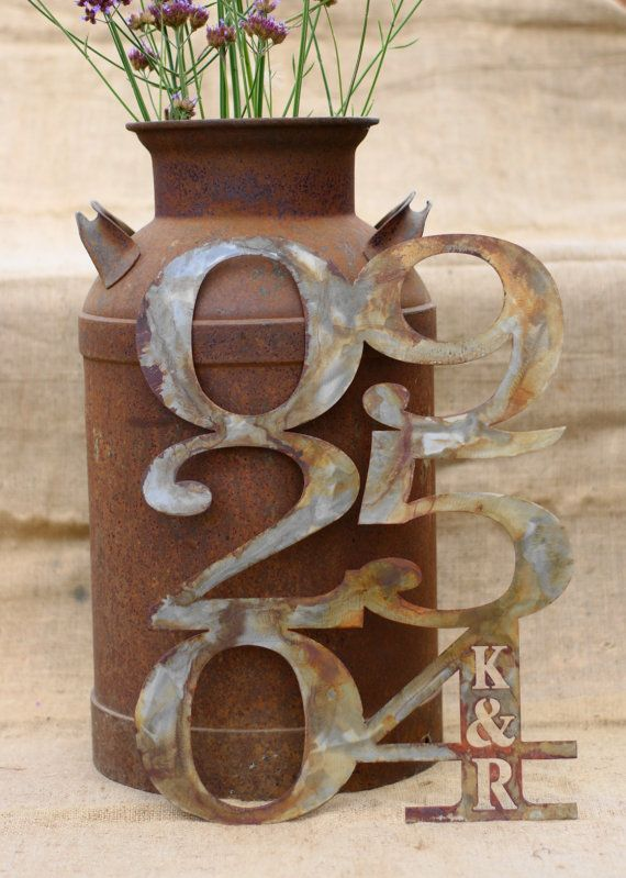 Customized Rustic Metal Wedding Anniversary by MetalMeltersllc