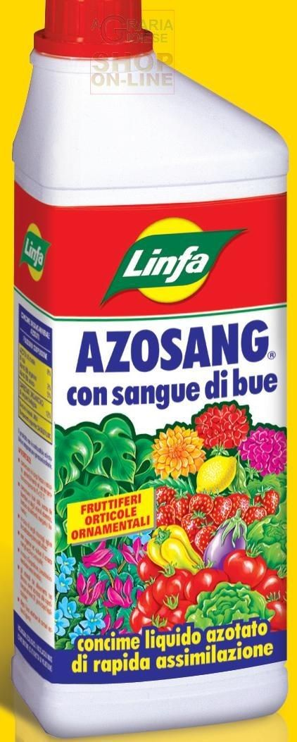 LINFA CONCIME LIQUIDO AZOSANG A BASE DI SANGUE DI BUE LT. 1 http://www.decariashop.it/fertilizzanti/9096-linfa-concime-liquido-azosang-a-base-di-sangue-di-bue-lt-1.html
