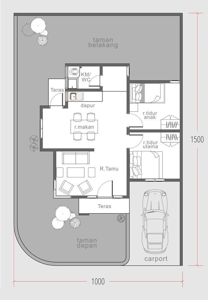 Two bedroom house plan build in 60 square meters   MyhomeMyzone com. Two bedroom house plan build in 60 square meters   MyhomeMyzone com