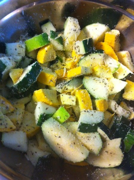 The hardest part about making this Zucchini Squash Bake was chopping up the veggies - such an easy dinner! My hubby and I both give this dish two thumbs up!