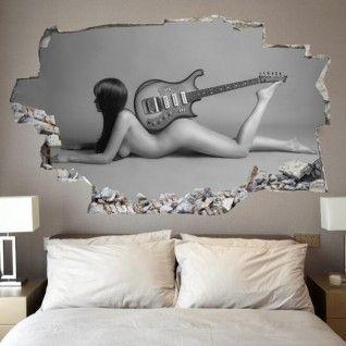 Adesivo da parete 3D chitarra