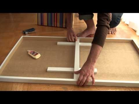 he's adorable, too // How to Make a Cradled Wood Panel (Inexpensively!)