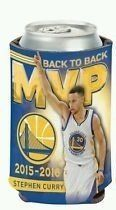"""NBA Golden State Warriors Curry MVP Can Cooler Full color imprinted 12 oz. can cooler with an imprint area of 4"""" x 8"""" made with 1/8"""" neoprene. Made in the USA."""