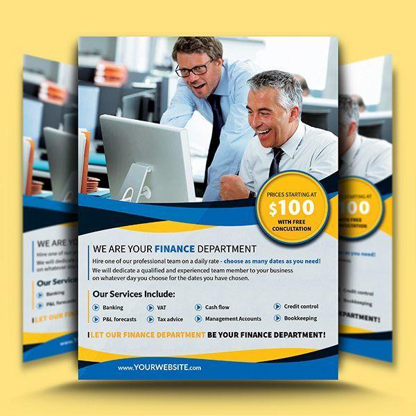 Finance Department Flyer Template