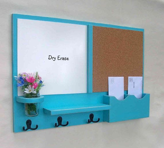 But I may like this Mail Organizer better. Chalkboards look nice, I just can't stand the sound of chalk on a chalkboard. Dry erase seems like a better idea for me.  Cork Board  White Board Mail by LegacyStudio, $89.95