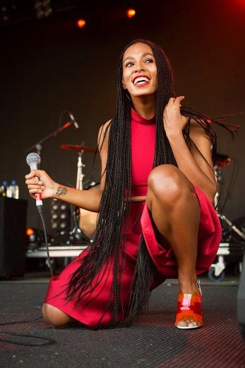 Solange Knowles performs on stage during Falls Festival in Lorne, Australia.