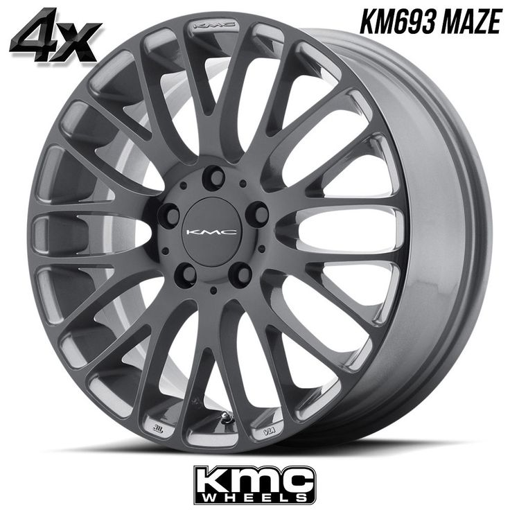 "4 KMC KM693 Maze 17""x7"" 5x112 Pearl Gray OFST:45mm 17 Inch Rims 17X7 Wheels"