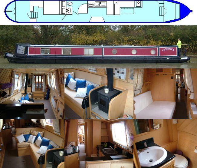 SOLD  CADENZA 2013 58FT SEMI-TRAD £50,000  www.calcuttboats.com