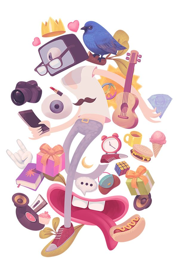 Teen Brand Illustration on Behance