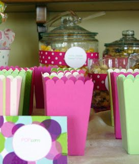 Baby Shower Week-Popcorn containers | Holy Craft: Baby Shower Week-Popcorn containers made with the silhouette.