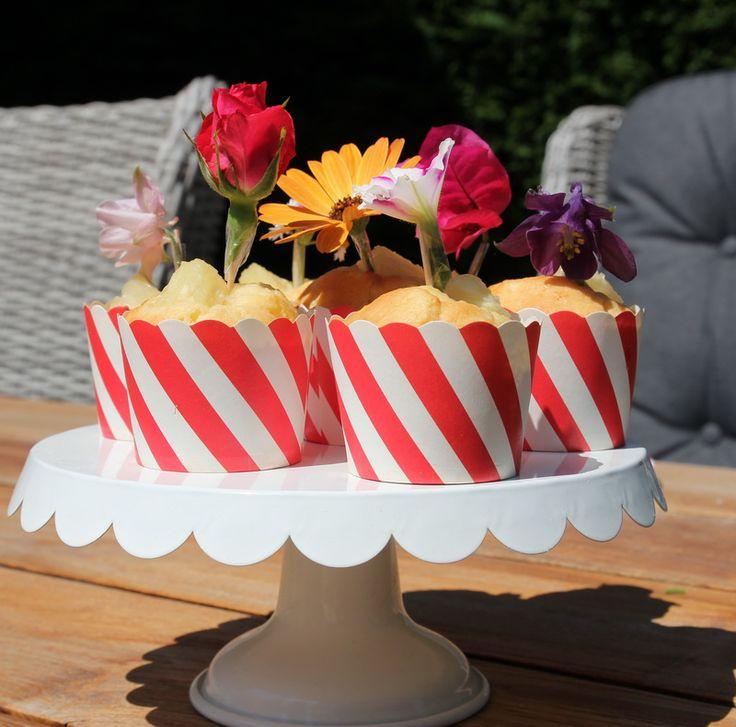 Backrezept | backen | baking | Muffins | Muffinrezept | erfrischende Ananasmuffins | Kindergeburtstag | Geburtstag | Muffintopper | Cupcaketopper | Blütentopper | frische Blüten | DIY | basteln | Idee | www.benbino.com
